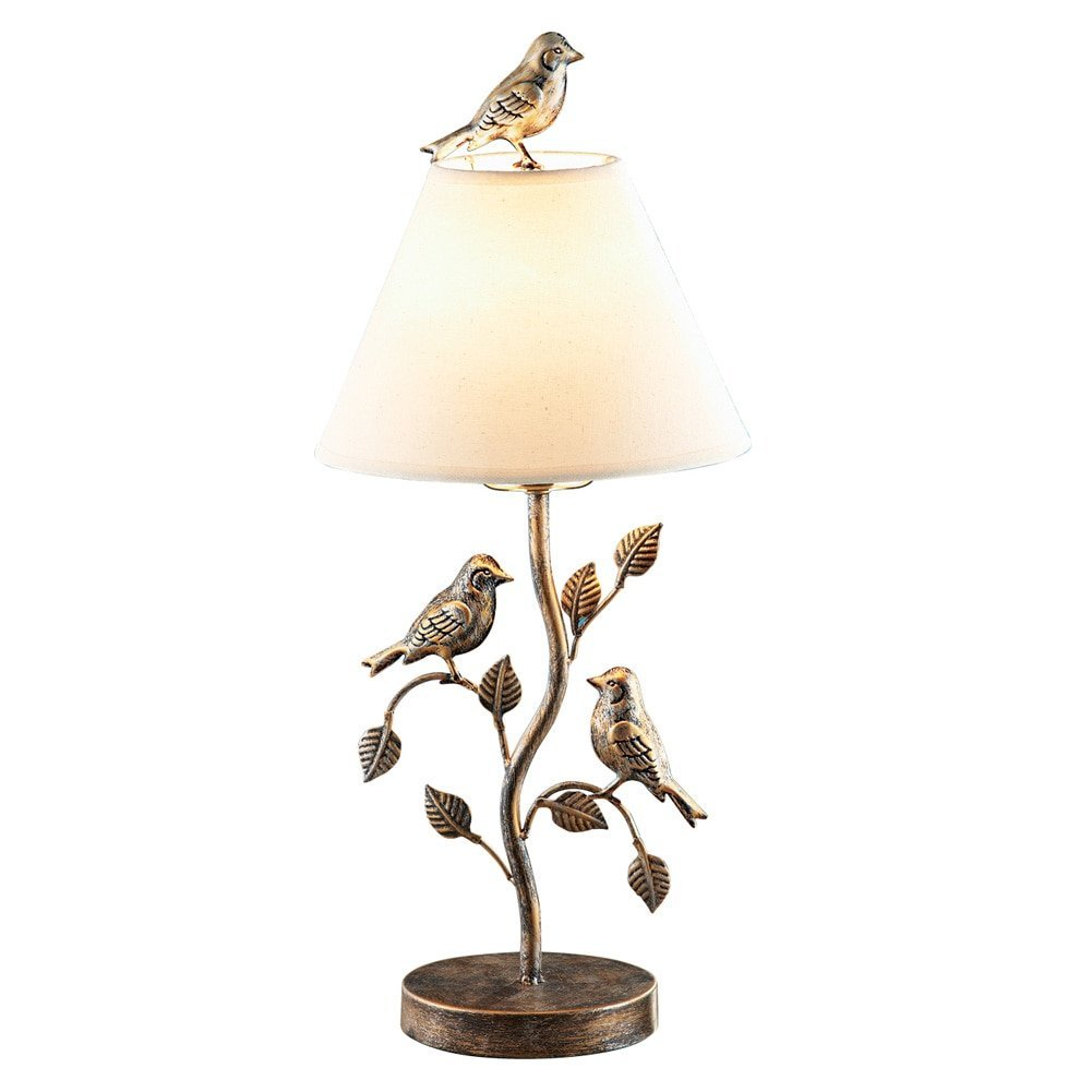 Captivating Faux Brass Bird Table Lamp, With A Charming Design And Elegant Style, This  Faux Brass Lamp Features A Leafy Branch With A Pair Of Birds, And Another  Bird ... Good Ideas