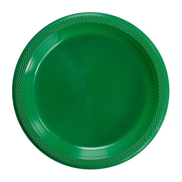 Exquisite 7  Disposable Plastic Plates Bulk - 100 Count Party Pack - Premium Plastic Disposable Dessert/Salad Plates Emerald Green  sc 1 st  Walmart & Exquisite 7