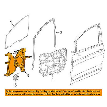 Chrysler oem 2017 pacifica window lift regulator right for 04 pacifica window regulator