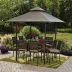 Mainstays D'roma 10-Piece Gathering Height Patio Dining Set, Seats 8