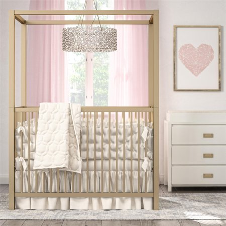 Moon Canopy Crib (Little Seeds Monarch Hill Haven Gold Metal Canopy Crib )