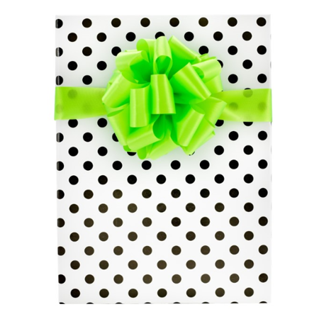 White Background with Mini Black Dots Elegant Specialty Gift Wrap Wrappiing Paper 24 x