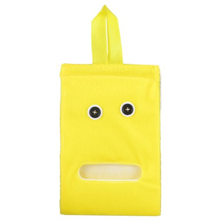 Unique Bargains Home Bedroom Yellow Plush Paper Facial Tissue Napkin Dispenser Holder