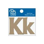 "Chipboard Letter 2"" Kk 2pc Natural"