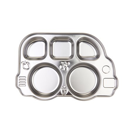 Innobaby Din Din Smart Stainless Divided Platter, Stainless Steel Divided Plate for Babies, Toddlers and Kids. BPA free - PLATTER ONLY