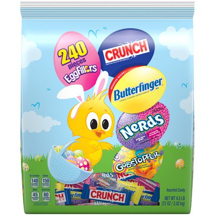 Nestle Easter, Assorted Chocolate & Sugar Stand up Bag, 240 (Nestle Chocolate Sugar)