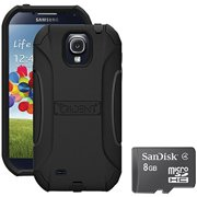 Trident Galaxy S4 Aegis Case with SanDisk Micro SD, Black
