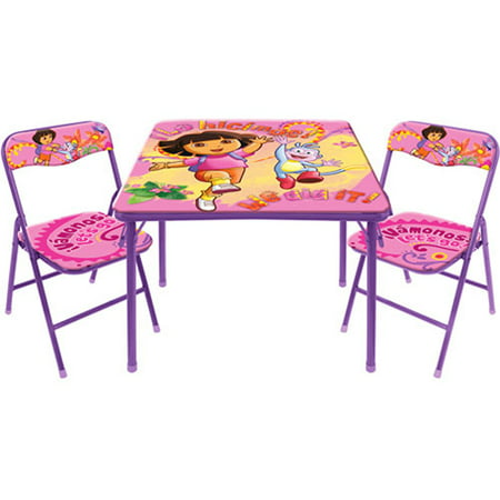 Dora the Explorer Activity Table and Chair Set, 10th Anniversary ...