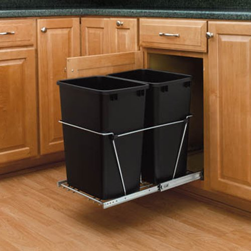 Rev-a-Shelf RV-15KD-18CS Double 27 Qt. Pullout Waste Container