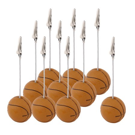 Office Resin Basketball Shaped Tabletop Decoration Note Paper Memo Clip 10 Pcs - Tabletop Basketball