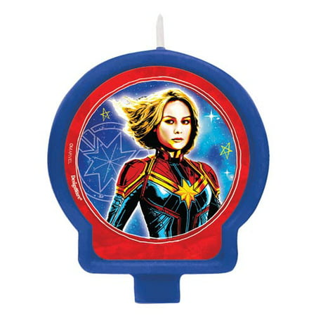 Captain Marvel Cake Candle (1ct)](Candle Character)