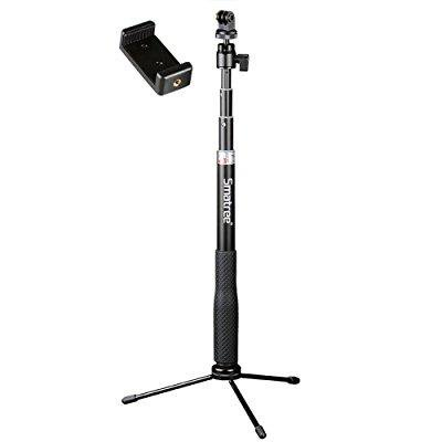 Smatree Smapole Q3 Telescoping Selfie Stick With Tripod Stand For Gopro Hero 5 4 3  3 2 1 Session Cameras  Ricoh Theta S  M15 Cameras  Compact Cameras And Cell Phones