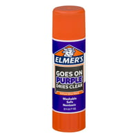 Elmer's Disappearing Purple Washable School Glue Stick, 0.77 oz, 1 Count