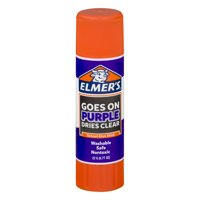 (4 Pack) Elmer's Disappearing Purple Washable School Glue Stick, 0.77 oz, 1 Count