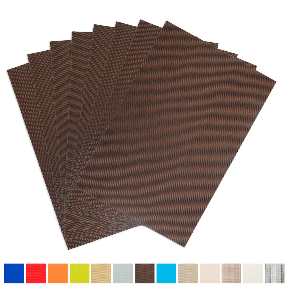 Aspire SET OF 8 Outdoor & Indoor Insulation Placemat, Solid Color-Red