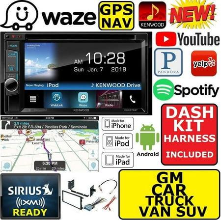 GM CAR-TRUCK-VAN-SUV GPS KENWOOD WAZE NAVIGATION APPLE ANDROID BT USB CAR STEREO (Gps Kenwood)