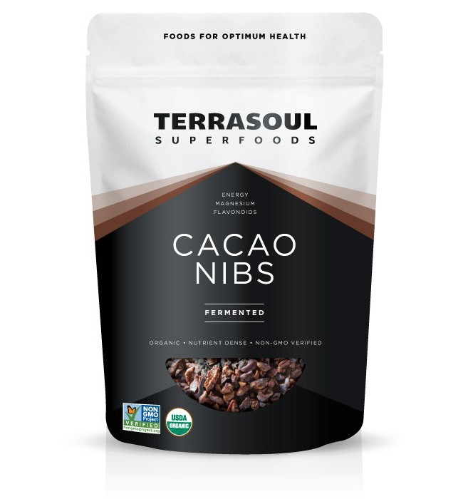 Terrasoul Superfoods Organic Raw Cacao Nibs, Fermented, 6.0 Oz