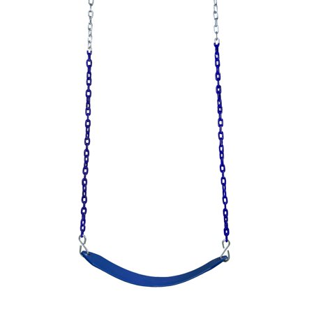 Gorilla Playsets Deluxe Swing Belt - Blue with Blue Chains