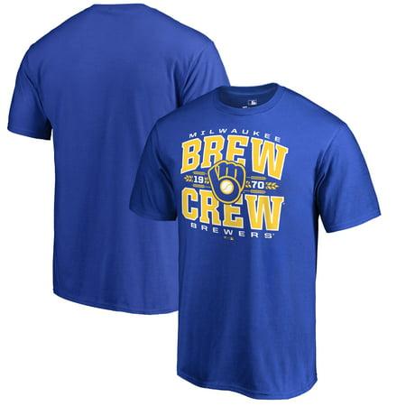 Milwaukee Brewers Fanatics Branded Hometown Collection Barley T-Shirt II - Royal