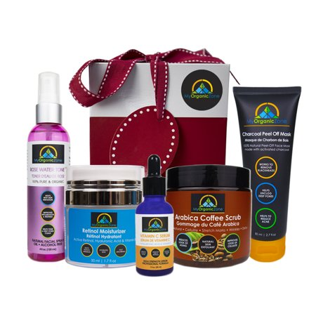Skin Care Beauty Gift Package Set Deluxe, With Products for Deep Pore Cleansing, Exfoliating, Skin Tightening, Moisturizing, Anti Aging, Anti Wrinkle, Acne Treatment, Reduce (Best Anti Cellulite Treatment Review)