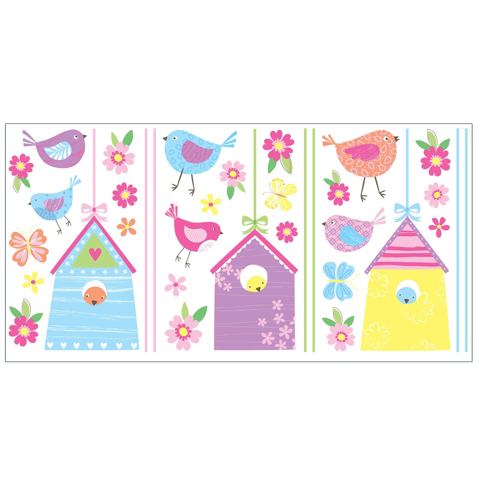 Fun4Walls Bird Houses Wall Stickers - Set of 70