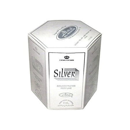 Silver - 6ml (.2oz) Roll-on Perfume Oil by Al-Rehab (Box of 6) - Walmart.com