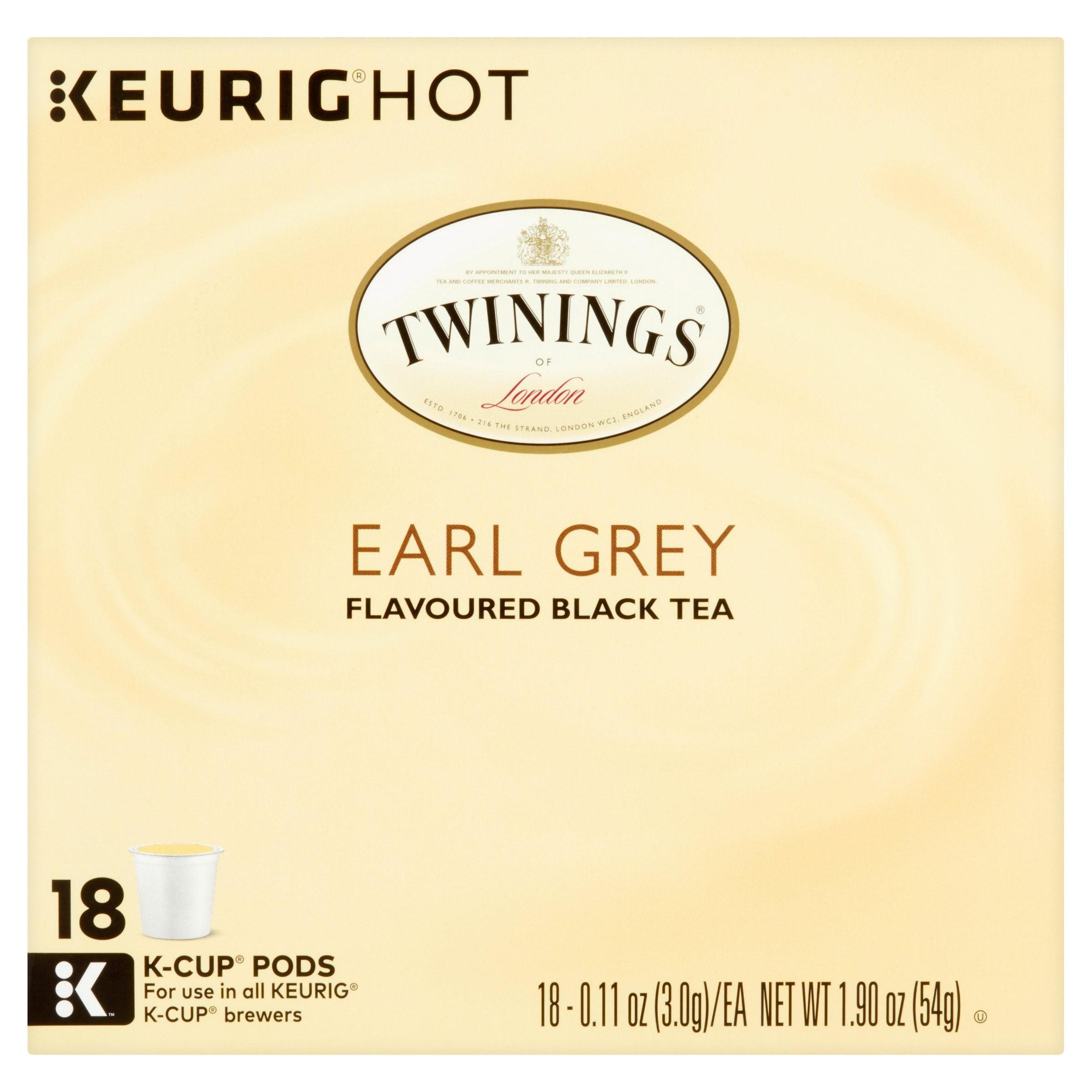 Twinings of London Earl Grey Tea Coffee Pods, 18 pods