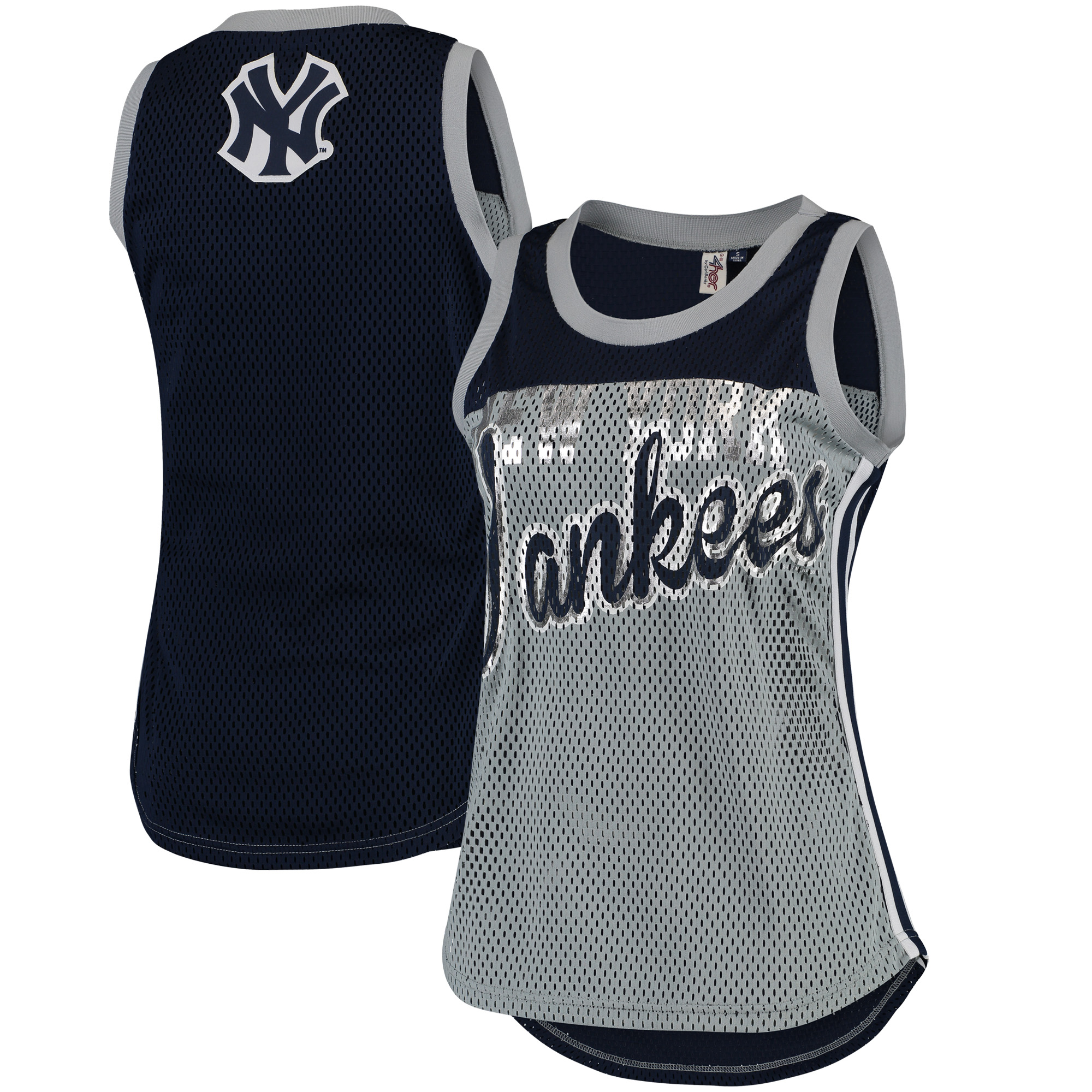 New York Yankees G-III 4Her by Carl Banks Women's Championship Tank Top - Gray/Navy