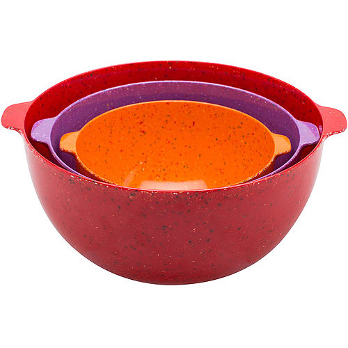 Zak! 3-Piece Eco-friendly Sprinkles Nested Mixing Bowls