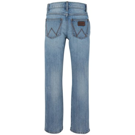 Wrangler Apparel Boys Retro Light Wash Straight Leg Jeans 20 REGULAR Denim