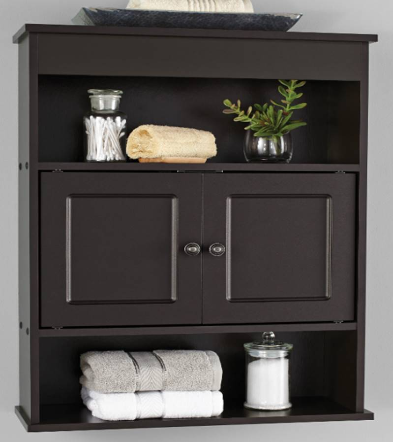 Mainstays Bathroom Wall Cabinet, Espresso