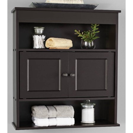 - Mainstays Bathroom Wall Cabinet, Espresso