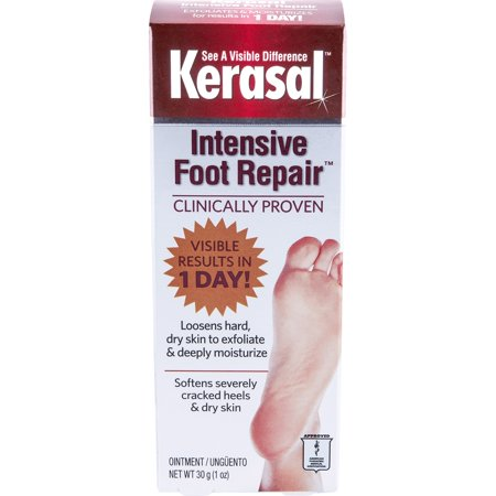 Kerasal Intensive Exfoliating Paraben-Free Foot Repair Ointment, 1 Oz Each
