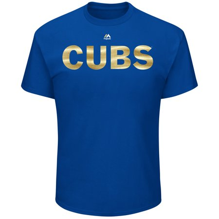 Chicago Cubs Majestic 2017 Gold Program Wordmark T-Shirt - Royal - Halloween Chicago Events 2017