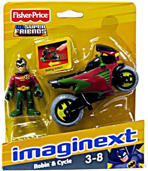 Imaginext Super Friends Batcave Replacement Batman Robin cycle helmet motorcycle