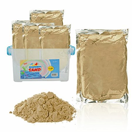 Sensory Sand (Sensory Sand, 11 POUNDS - ECO friendly, Beige, With Container )