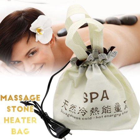 Aimeeli 220V Electric Heater Bag Energy Massage Stone Heater Bag For Hot Energy Lava Spa (stone not