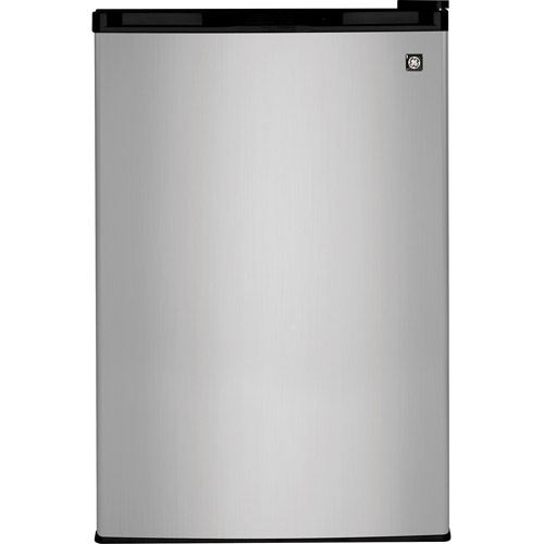 General Electric 4.4 cu ft Compact Refrigerator, Stainless Steel