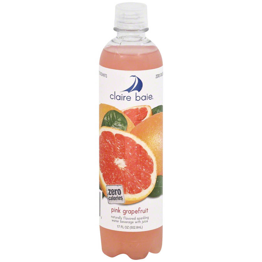 Claire Baie Pink Grapefruit Carbonated Water, 17 fl oz, (Pack of 12) by