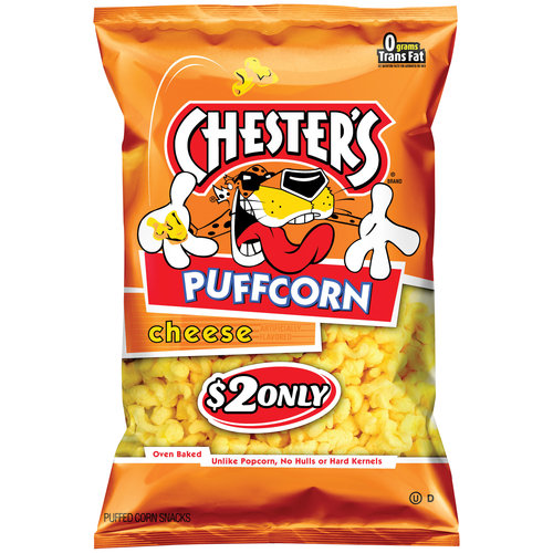 Chester's Puffcorn Cheese Puffed Corn Snacks, 5.5 oz