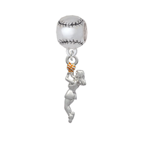 Basketball Player Girl - Softball Charm Bead
