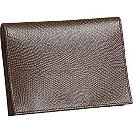 (Budd Leather 552241L-51 Lizard Print Large Leather Passport Case - Cognac)