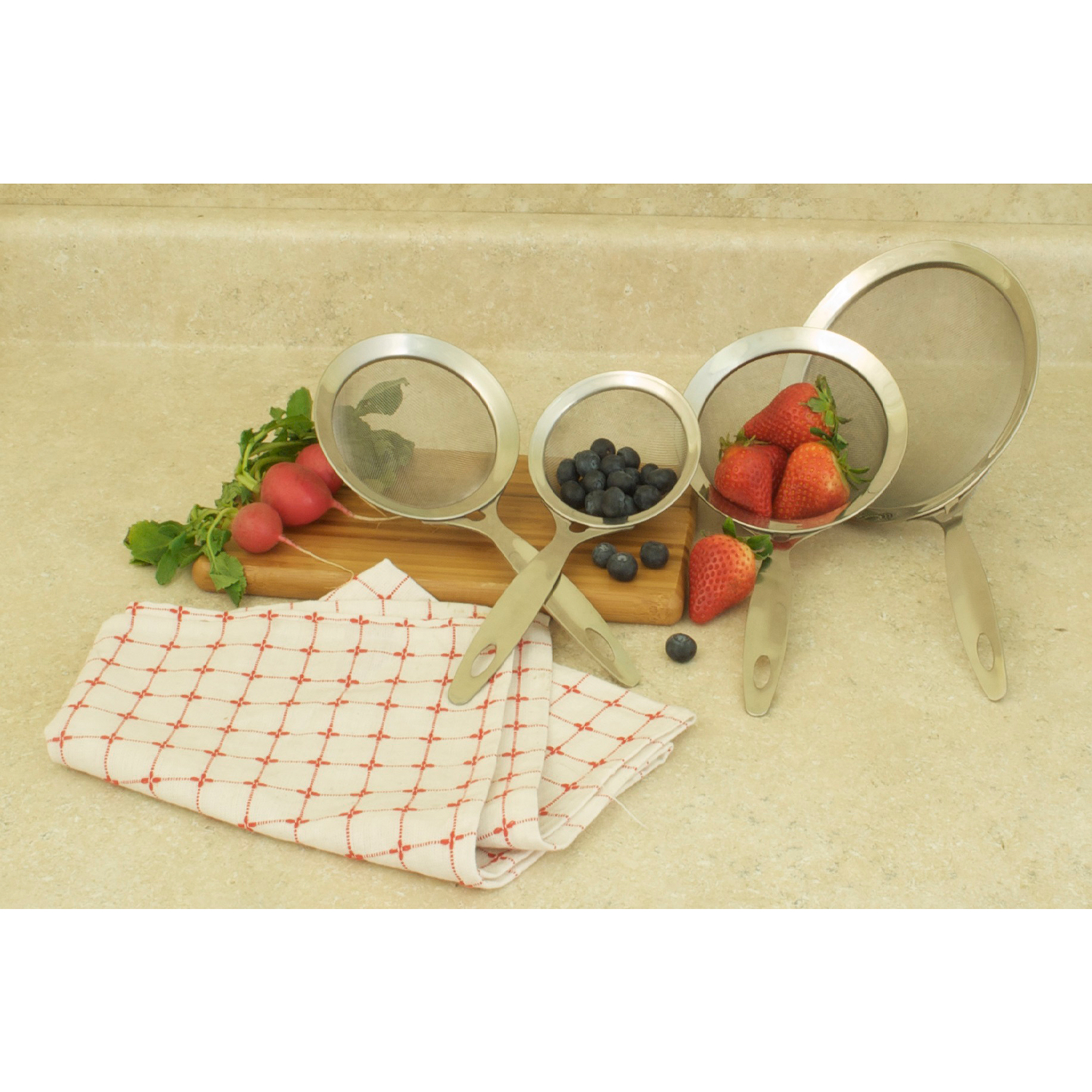 Cook Pro 4pc Heavy Duty Stainless Steel Strainers by Cook Pro