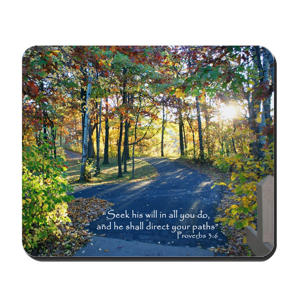 CafePress - Seek His Will... - Non-slip Rubber Mousepad, Gaming Mouse Pad