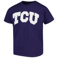 TCU Horned Frogs Russell Athletic Youth Oversized Graphic Crew Neck T-Shirt - Purple