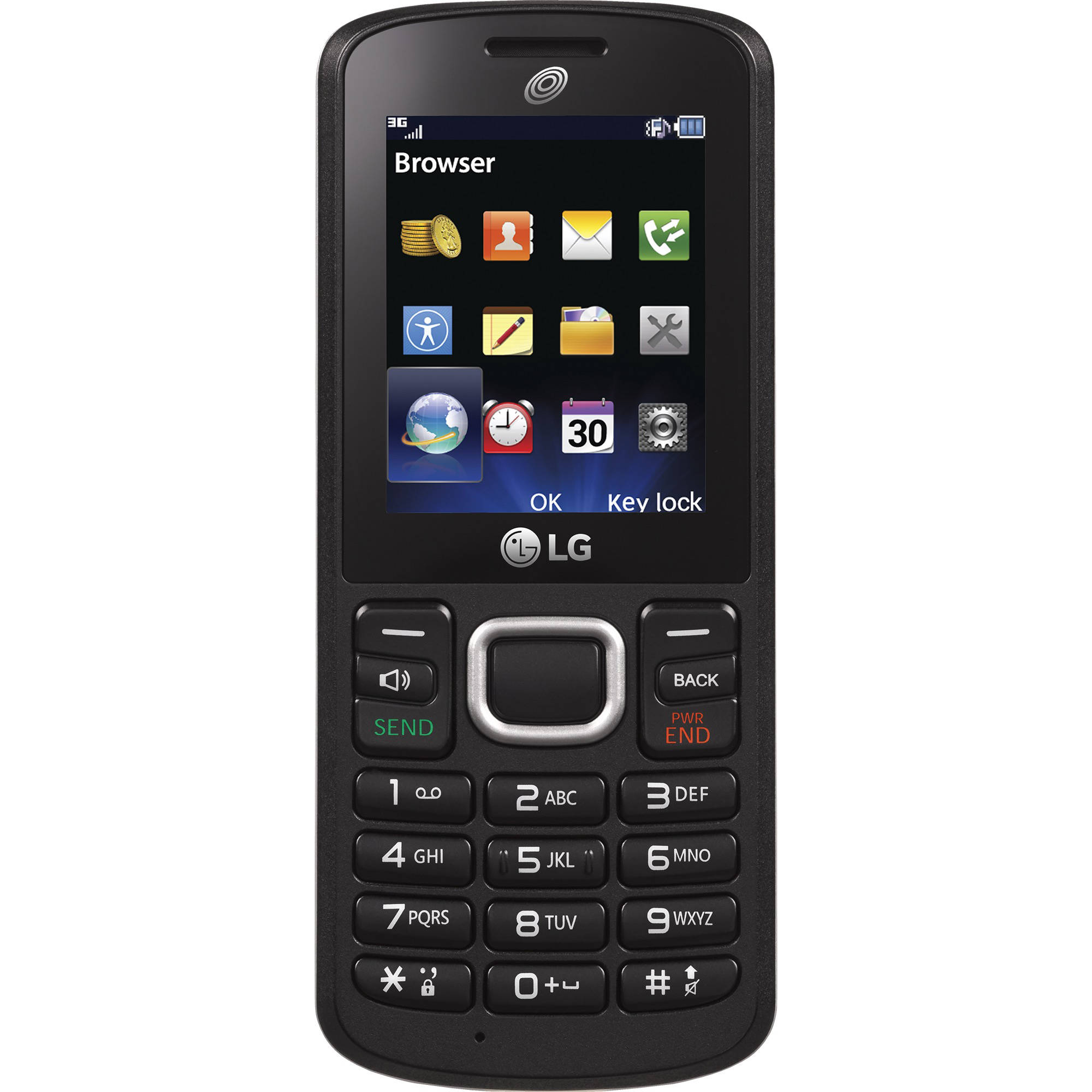 TracFone LG 328BG Prepaid Cell Phone, Black