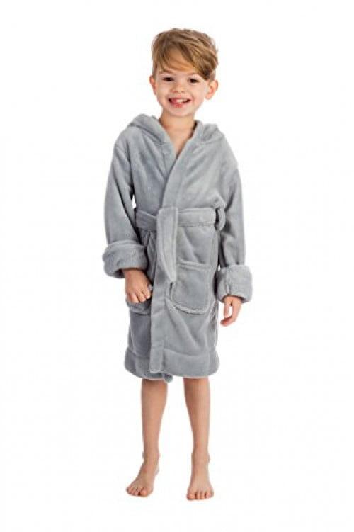 Elowel Boys Girls Hooded Black Childrens Sleep Robe Size 14Y