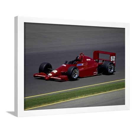 Formula Atlantic Racing Car Action Framed Print Wall Art Race Car Framed Art