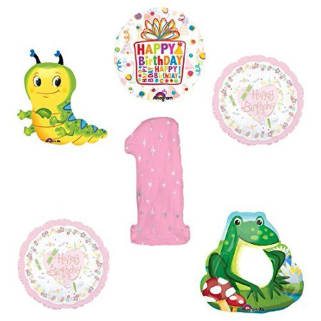 Caterpillar Party Supplies (Garden Tea Party Dragonfly Caterpillar Frog 1st Birthday Party)