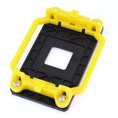 Unique Bargains AMD AM2 940 Socket CPU Fan Heatsink Bracket Holder Base Yellow Black